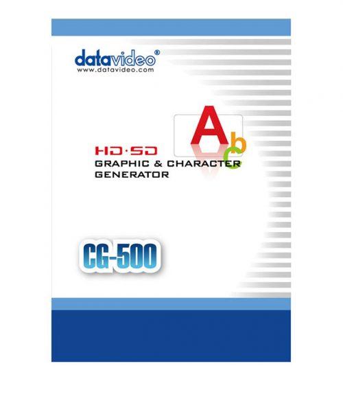 نرم ا فزارکاراکتر ژنراتور HD/SD شرکت Datavideo مدل CG-500