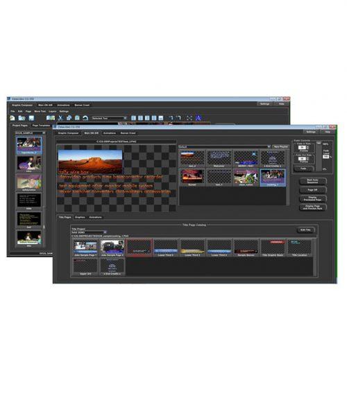 نرم افزار کاراکتر ژنراتور HD/SD دیتاویدئو مدل CG-350  <br> <span style='color:#949494;font-size:11px; class='secondary'> Datavideo CG-350 HD/SD Character Generator </span>