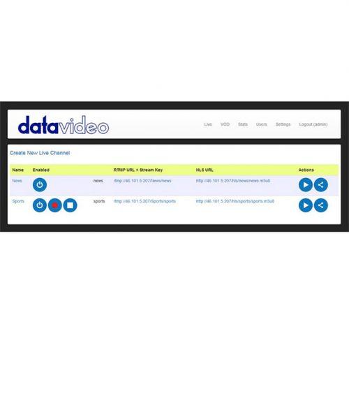 نرم افزار ارسال ویدئو از شبکه دیتاویدئو مدل DVS-100P  <br> <span style='color:#949494;font-size:11px; class='secondary'> Datavideo DVS-100P Stream Server Pro </span>