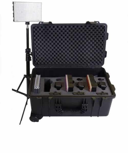 کیت نورپردازی 3 پروژکتوری دیتاویدئو LED مدل PLK-300  <br> <span style='color:#949494;font-size:11px; class='secondary'> Datavideo PLK-300 All in one lighting kit </span>