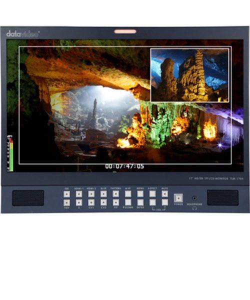 """مانیتور رومیزی 17.3 اینچ HD/SD دیتاویدئو مدل TLM-170H  <br> <span style='color:#949494;font-size:11px; class='secondary'> Datavideo TLM-170H 17.3"""" HD/SD TFT LCD Monitor </span>"""