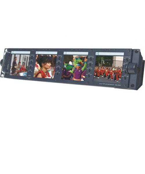 "مجموعه 4 مانیتور 4 اینچ رکمونت SD دیتاویدئو مدل TLM-404H  <br> <span style='color:#949494;font-size:11px; class='secondary'> Datavideo TLM-404H 4x4"" SD TFT LCD Monitor </span>"