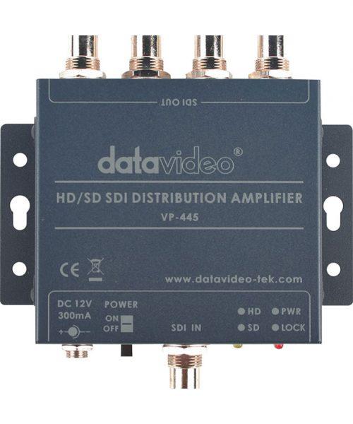 توزیع کننده سیگنال SDI دیتاویدئو مدل VP-445  <br> <span style='color:#949494;font-size:11px; class='secondary'> Datavideo VP-445 HD/SD-SDI Distribution Amplifier </span>