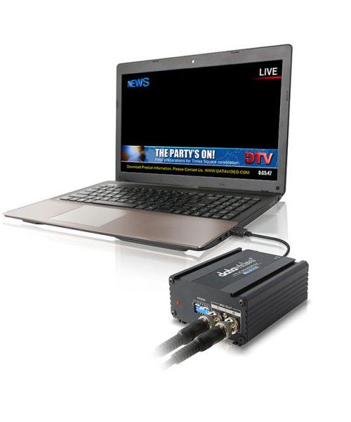 کیت مولد کاراکتر HD/SD دیتاویدئو مدل TC-200  <br> <span style='color:#949494;font-size:11px; class='secondary'> Datavideo TC-200 HD/SD Character Generator Kit </span>